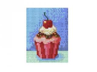 Pixelhobby képkészlet, muffin (801228, 1db alaplap + színek, 7-99 év)
