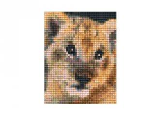 Pixelhobby képkészlet, oroszlán kölyök (801323, 1db alaplap + színek, 7-99 év)