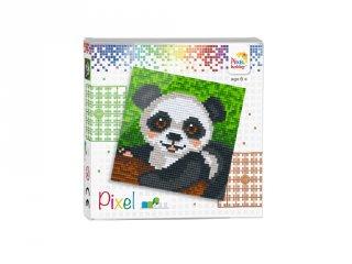 Pixelhobby képkészlet, Panda (44007, 4db 6x6-os alaplap + színek, 7-99 év)