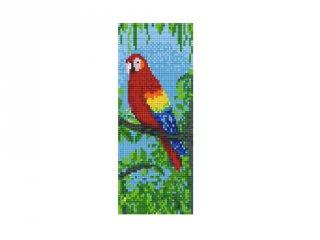 Pixelhobby képkészlet, papagáj (802050, 2db alaplap + színek, 7-99 év)