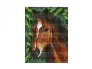 Pixelhobby képkészlet, pej ló (801318, 1db alaplap + színek, 7-99 év)