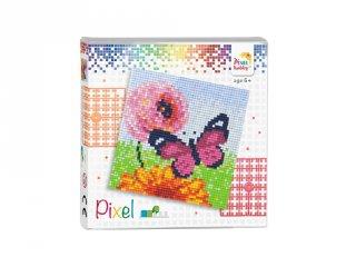 Pixelhobby képkészlet, Pillangó (44011, 4db 6x6-os alaplap + színek, 7-99 év)