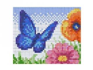 Pixelhobby képkészlet, pillangó (801333, 1db alaplap + színek, 7-99 év)
