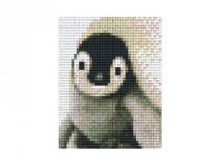 Pixelhobby képkészlet, pingvin bébi (801315, 1db alaplap + színek, 7-99 év)