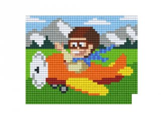 Pixelhobby képkészlet, repülő (801217, 1db alaplap + színek, 7-99 év)