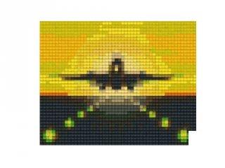 Pixelhobby képkészlet, repülő a naplementében (801212, 1db alaplap + színek, 7-99 év)