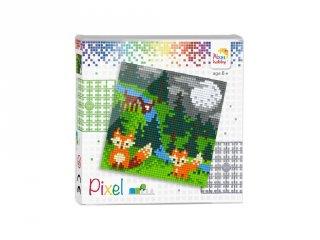 Pixelhobby képkészlet, Rókák (44010, 4db 6x6-os alaplap + színek, 7-99 év)