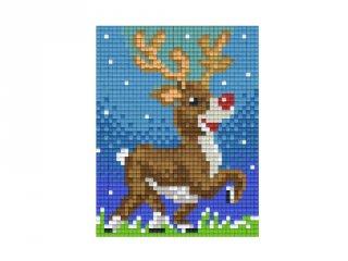 Pixelhobby képkészlet, Rudolf (801417, 1db alaplap + színek, 7-99 év)