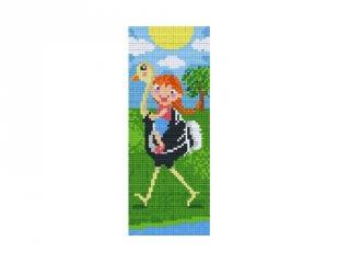 Pixelhobby képkészlet, struccon lovagló kislány (802077, 2db alaplap + színek, 7-99 év)