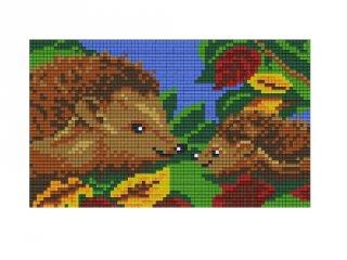 Pixelhobby képkészlet, sünik (802023, 2db alaplap + színek, 7-99 év)
