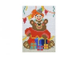 Pixelhobby képkészlet, szülinapos maci (801403, 1db alaplap + színek, 7-99 év)