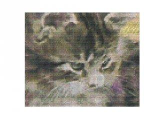 Pixelhobby képkészlet, szürke cica (804062, 4db alaplap + színek, 7-99 év)