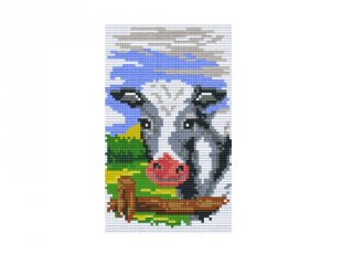 Pixelhobby képkészlet, tehén (802018, 2db alaplap + színek, 7-99 év)