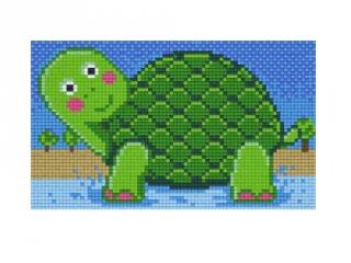 Pixelhobby képkészlet, teknős (802060, 2db alaplap + színek, 7-99 év)