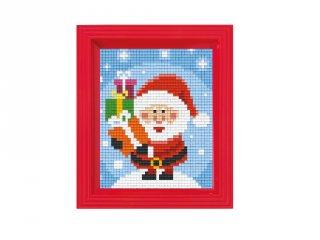 Pixelhobby képkészlet, Télapó (31390, 10x12 cm-es alaplap, színek, képkeret, 7-99 év)