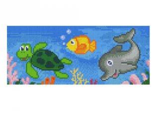Pixelhobby képkészlet, tengeri élővilág (803019, 3db alaplap + színek, 7-99 év)