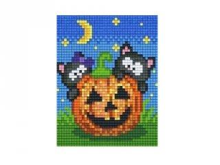 Pixelhobby képkészlet, töklámpás (801404, 1db alaplap + színek, 7-99 év)