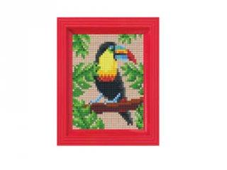 Pixelhobby képkészlet, Tukán (31431, 10x12 cm-es alaplap, színek, képkeret, 7-99 év)
