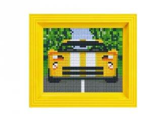 Pixelhobby képkészlet, versenyautó (31229, 10x12 cm-es alaplap, színek, képkeret, 7-99 év)