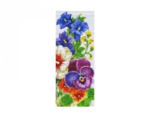 Pixelhobby képkészlet, virágok (803027, 3db alaplap + színek, 7-99 év)