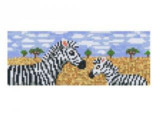 Pixelhobby képkészlet, zebrák (802038, 2db alaplap + színek, 7-99 év)