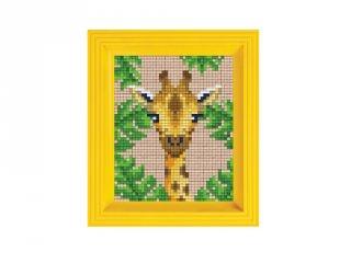 Pixelhobby képkészlet, Zsiráf (31437, 10x12 cm-es alaplap, színek, képkeret, 7-99 év)
