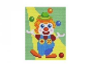 Pixelhobby képkészlet, zsonglőrködő bohóc (801396, 1db alaplap + színek, 7-99 év)