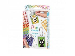 Pixelhobby Kulcstartó készlet (20130, 3db kulcstartó alaplap + 8 szín, 7-99 év)
