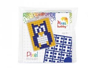 Pixelhobby Kulcstartó készlet, bagoly (23006, 1db kulcstartó alaplap + 3 szín, 7-99 év)