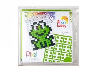 Pixelhobby Kulcstartó készlet, béka (23011, 1db kulcstartó alaplap + 3 szín, 7-99 év)