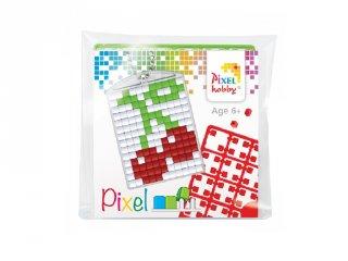 Pixelhobby Kulcstartó készlet, cseresznye (23041, 1db kulcstartó alaplap + 3 szín, 7-99 év)