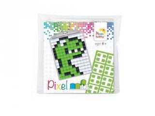 Pixelhobby Kulcstartó készlet, dínó (23029, 1db kulcstartó alaplap + 3 szín, 7-99 év)