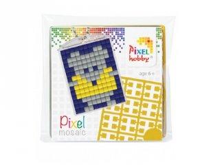 Pixelhobby Kulcstartó készlet, egér (23008, 1db kulcstartó alaplap + 3 szín, 7-99 év)