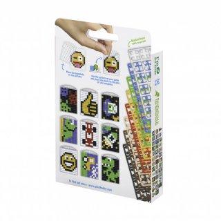 Pixelhobby Kulcstartó készlet fiús (20132, 3db kulcstartó alaplap + 8 szín, 7-99 év)
