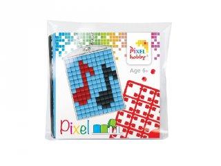 Pixelhobby Kulcstartó készlet, hangjegy (23038, 1db kulcstartó alaplap + 3 szín, 7-99 év)