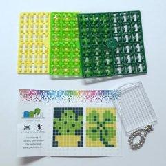 Pixelhobby Kulcstartó készlet, kaktusz (23026, 1db kulcstartó alaplap + 3 szín, 7-99 év)