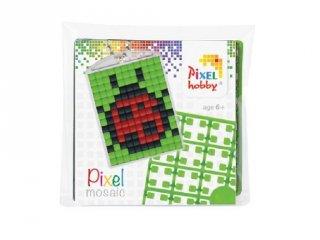Pixelhobby Kulcstartó készlet, katicabogár (23015, 1db kulcstartó alaplap + 3 szín, 7-99 év)