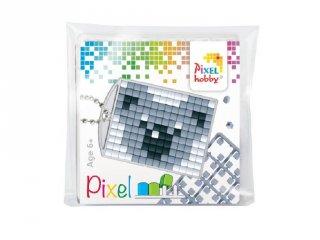 Pixelhobby Kulcstartó készlet, koala (23035, 1db kulcstartó alaplap + 3 szín, 7-99 év)