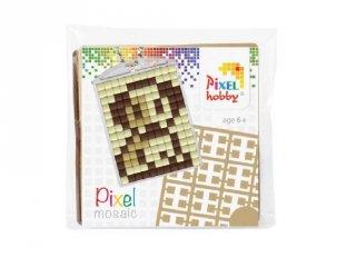 Pixelhobby Kulcstartó készlet, kutya (23017, 1db kulcstartó alaplap + 3 szín, 7-99 év)