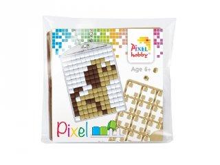 Pixelhobby Kulcstartó készlet, kutyus (23032, 1db kulcstartó alaplap + 3 szín, 7-99 év)