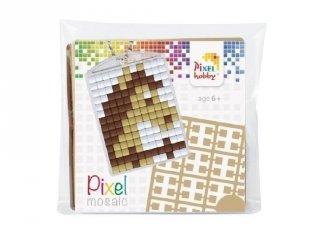 Pixelhobby Kulcstartó készlet, ló (23025, 1db kulcstartó alaplap + 3 szín, 7-99 év)