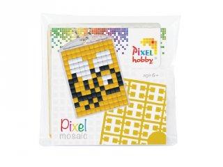 Pixelhobby Kulcstartó készlet, méhecske (23014, 1db kulcstartó alaplap + 3 szín, 7-99 év)