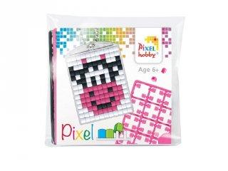 Pixelhobby Kulcstartó készlet, mosolygós boci (23039, 1db kulcstartó alaplap + 3 szín, 7-99 év)