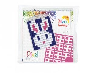 Pixelhobby Kulcstartó készlet, nyúl (23010, 1db kulcstartó alaplap + 3 szín, 7-99 év)