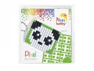 Pixelhobby Kulcstartó készlet, panda (23004, 1db kulcstartó alaplap + 3 szín, 7-99 év)
