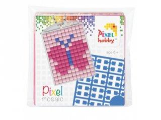 Pixelhobby Kulcstartó készlet, pillangó (23009, 1db kulcstartó alaplap + 3 szín, 7-99 év)