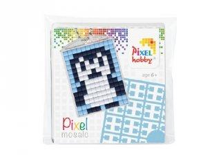 Pixelhobby Kulcstartó készlet, pingvin (23012, 1db kulcstartó alaplap + 3 szín, 7-99 év)
