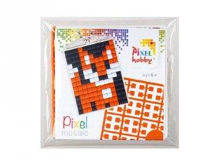Pixelhobby Kulcstartó készlet, róka (23001, 1db kulcstartó alaplap + 3 szín, 7-99 év)