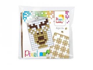 Pixelhobby Kulcstartó készlet, Rudolf (23042, 1db kulcstartó alaplap + 3 szín, 7-99 év)