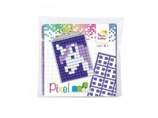 Pixelhobby Kulcstartó készlet, unikornis (23028, 1db kulcstartó alaplap + 3 szín, 7-99 év)